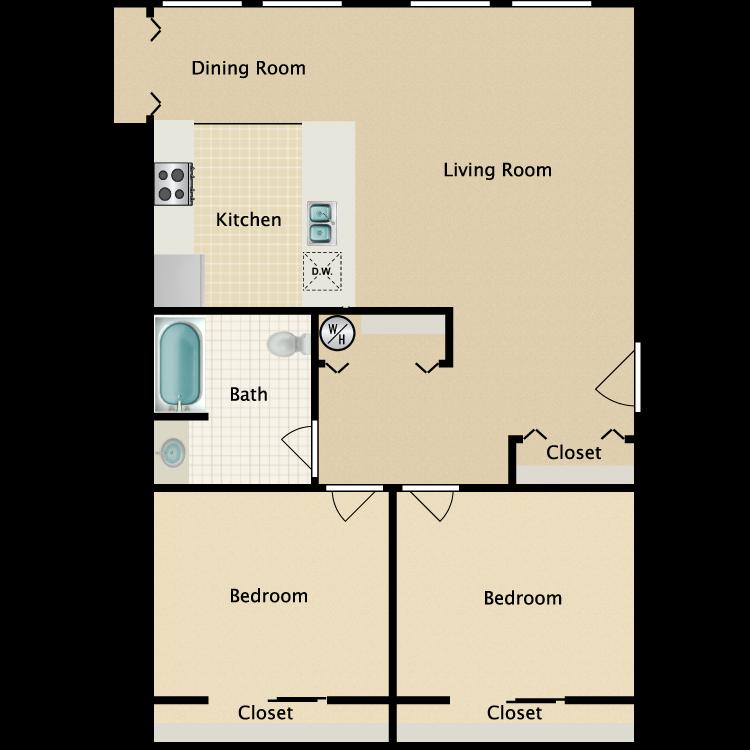 Exchange @ 104 2BR floorplan