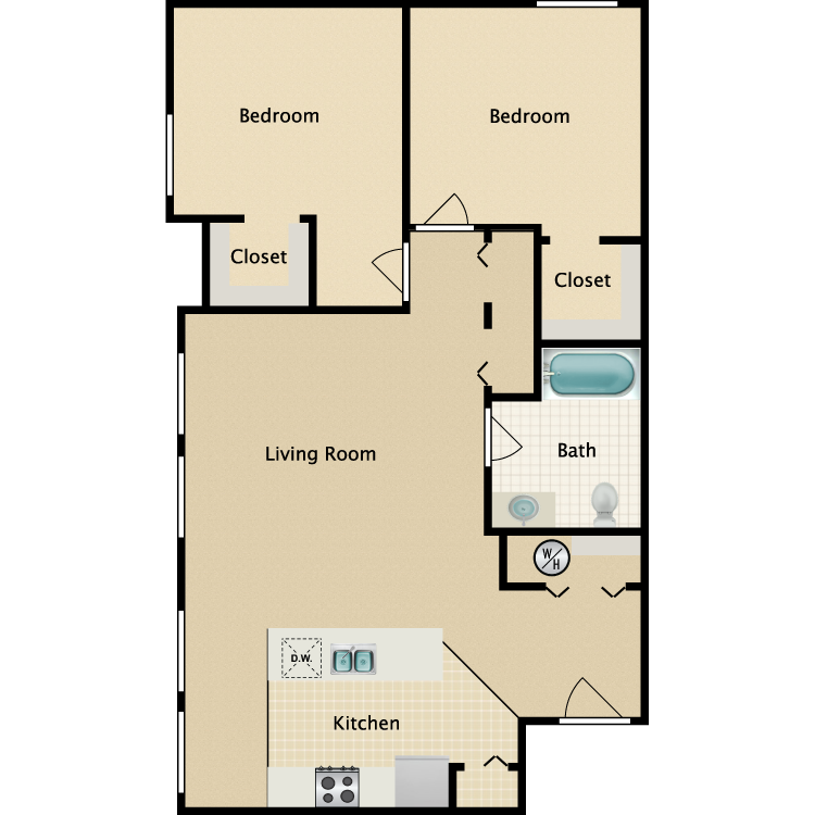Exchange @ 104 2BR floorplan